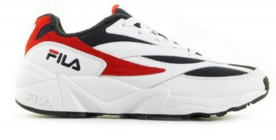 FILA FILA V94M Low Wit/Donkerblauw/Rood Herensneakers