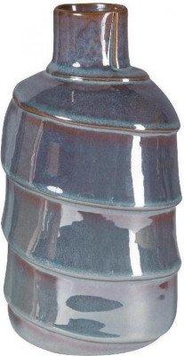Firawonen.nl PTMD Moa blue glazed ceramic round pot xl