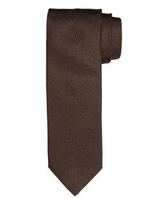 Profuomo Profuomo heren bruin oxford zijden stropdas