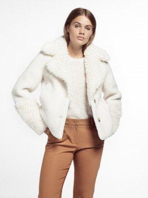 Beaumont Beaumont Lama mix coat - Off White