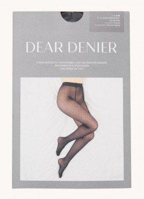 DEAR DENIER DEAR DENIER Kate Croissant panty met print in 50 denier black