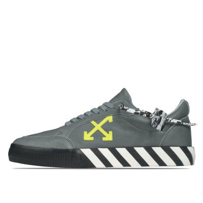 Off-White Off-White Vulc Low Top Sneaker Grey Green Fluo (2020)