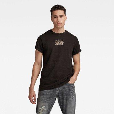G-Star RAW Chest Text Graphic T-Shirt - Zwart - Heren