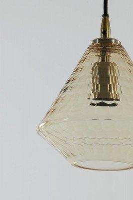 Light en Living Light & Living Hanglamp 'Delilu' 20cm, kleur Amber
