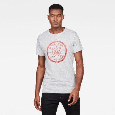 G-Star RAW GS Surf Regular T-Shirt - Grijs - Heren