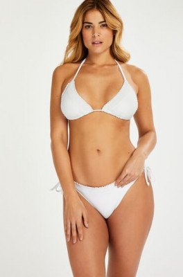 Hunkemöller Hunkemöller Rio bikinibroekje Remi Stitch Wit