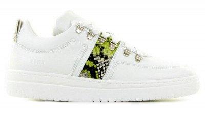 Nubikk Nubikk Yeye Block Python Wit Damessneakers