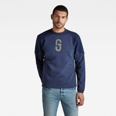 G-Star RAW GS Moto Sweater - Midden blauw - Heren