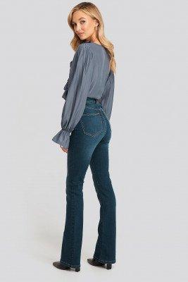 NA-KD NA-KD Skinny Bootcut Jeans - Blue