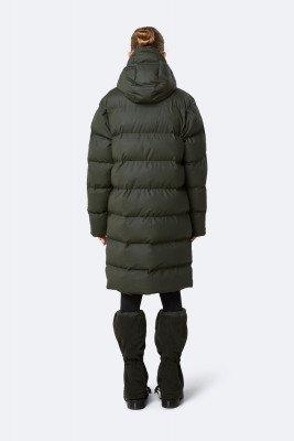 Rains Rains Dames Long Puffer Jacket - Green