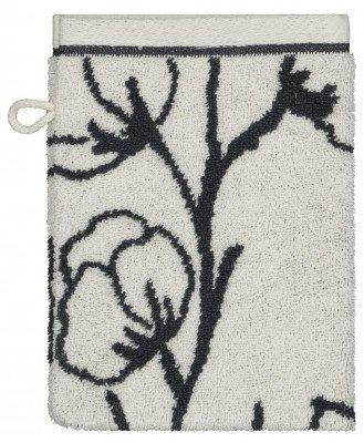 HEMA HEMA Handdoek Zware Kwaliteit Bloem Zwart Wit (wit)
