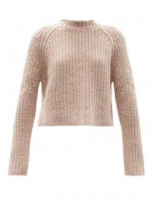 Matchesfashion Brock Collection - Sophie Rib-knitted Cashmere Sweater - Womens - Light Pink