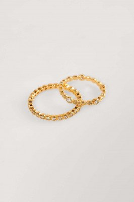 NA-KD Accessories NA-KD Accessories Verguld Ringen In 2-pack - Gold