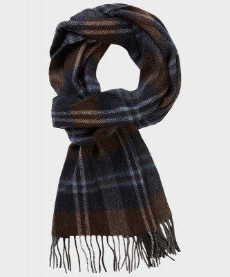 Michaelis Michaelis heren geweven sjaal bruin