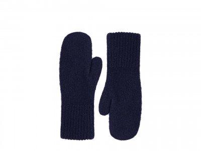 Alpaca Loca Knitted Mittens Navy
