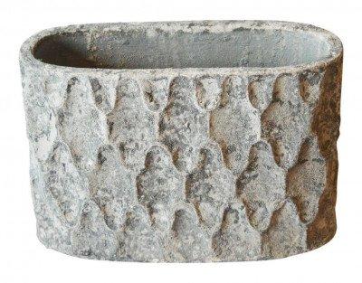 PTMD PTMD Pot 'Antonis', Keramiek, 33 x 20 x 50cm, kleur Grijs