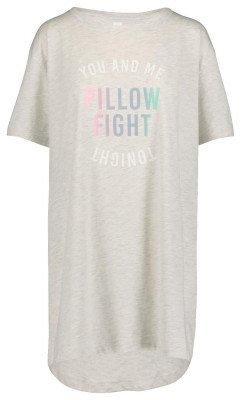 HEMA Dames Nachthemd Lichtgrijs (lichtgrijs)