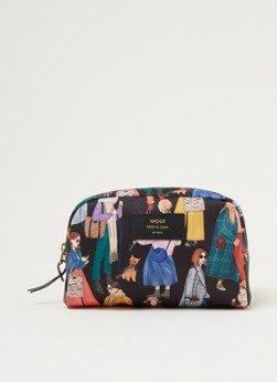 Wouf Wouf Girls make-up tas van canvas met print