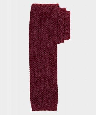 Michaelis Michaelis heren gebreide wollen stropdas bordeaux