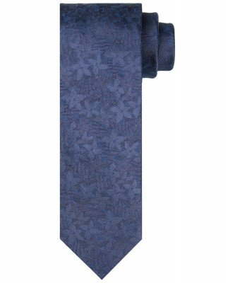 Profuomo Profuomo heren blauwe bloemenprint stropdas