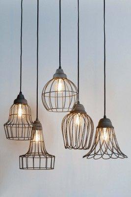 Light en Living Light & Living Hanglamp 'Birke' 17cm, kleur cement