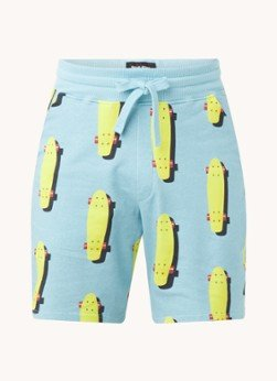 Snurk Snurk Skater pyjamashorts met print en steekzakken