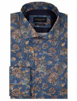 Cavallaro Napoli Cavallaro Napoli Heren Overhemd - Dario Overhemd - Blauw