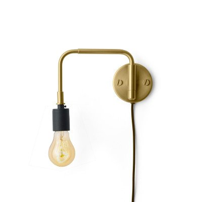 Menu Menu Staple wandlamp met stekker, van messing
