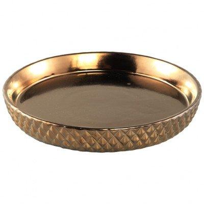Firawonen.nl PTMD Crock bronze antique ceramic plate round m