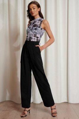 Emma Ellingsen x NA-KD Emma Ellingsen x NA-KD Oversized Pantalon - Black