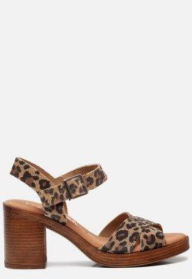 OH MY SANDALS OH MY SANDALS Sandalen met hak luipaard