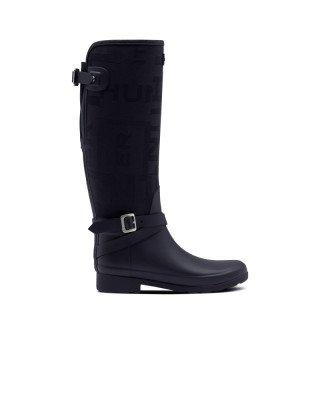 Hunter Boots Women's Refined Slim Fit Adjustable Jacquard Tall Wellington Boots