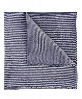 Profuomo Profuomo heren grijze uni zijden pochet