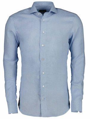 Cavallaro Napoli Cavallaro Napoli Heren Overhemd - Leo Overhemd - Blauw