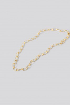 NA-KD Accessories Gold Plated Thin Chain Necklace - Gold