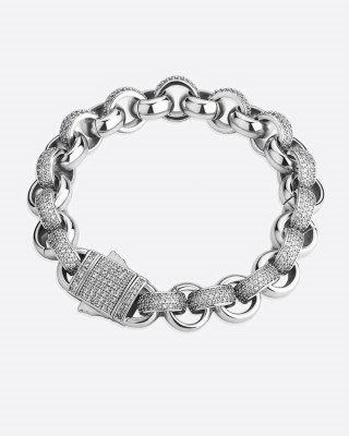 Drippy.Amsterdam NL ICEY HOOPS. - 12MM WHITE GOLD - 7 inch / 18 cm