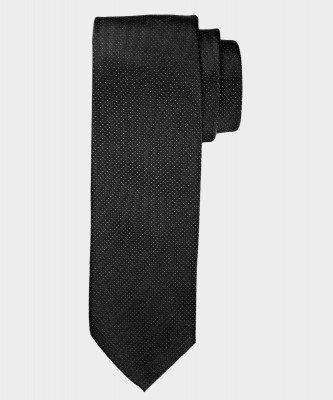 Michaelis Michaelis heren pindot zijden stropdas zwart