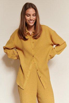 NA-KD Classic NA-KD Classic Gestructuurd Shirt - Yellow