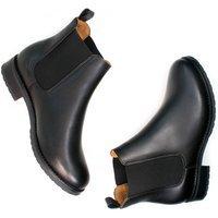 Will's Vegan Store Will's Vegan Store unisex vegan Chelsea Boots Luxe Smart Zwart Zwart 36 Gerecycled rubber/Microfibre (micronappa, microsuède)/PU