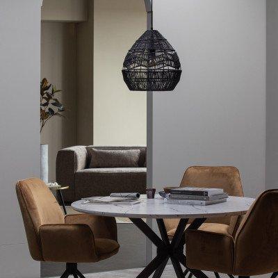 WOOOD Exclusive WOOOD Exclusive Hanglamp 'Adelaide' Ø35cm, kleur Zwart