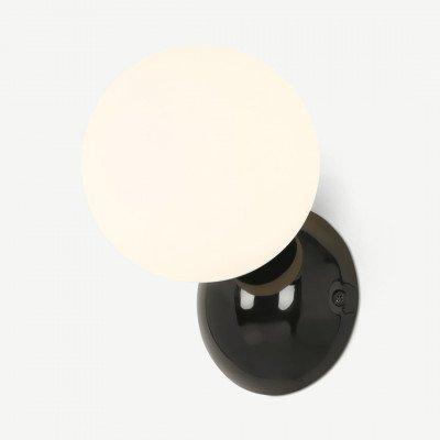 MADE.COM Vetro badkamer wandlamp, zwart