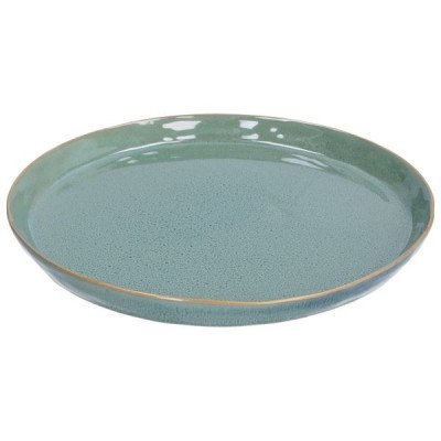 DilleenKamille Bord reactieve glazuur, steengoed, groen,Ø 26 cm