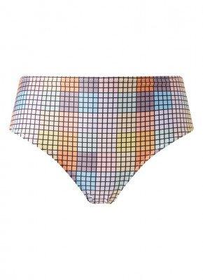 Ganni Ganni High waisted bikinislip met colourblocking