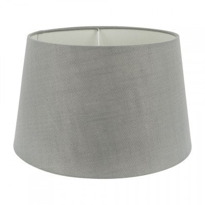 Xenos Lampenkap linnen - grijs - 33 cm