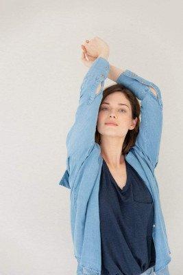 Kuyichi Mia Tencel Shirt Light Blue - Light Blue - M