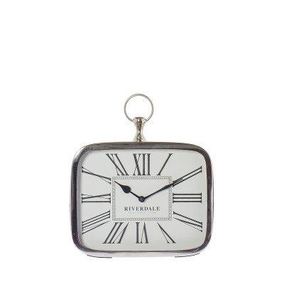 Tafelklok Luton silver 25cm
