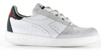 Diadora Heritage Diadora Heritage B.Elite H Leather Dirty Wit/Blauw Damessneakers