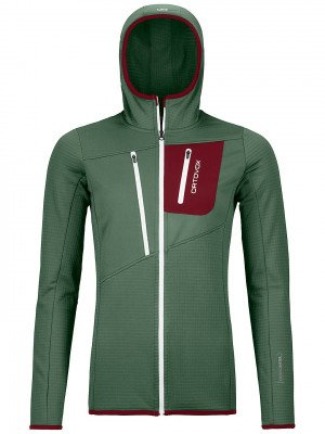 Ortovox Ortovox Grid Hooded Fleece Jacket groen