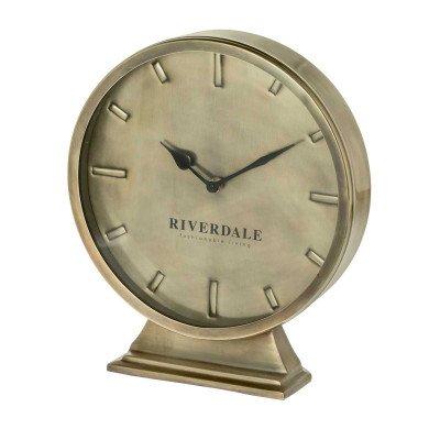 Riverdale NL Tafelklok Ray goud 29cm