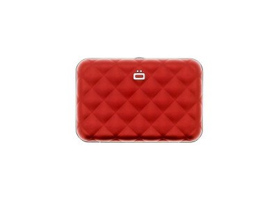 Ogon Designs Ogon Dames Creditcardhouder Quilted Button Red
